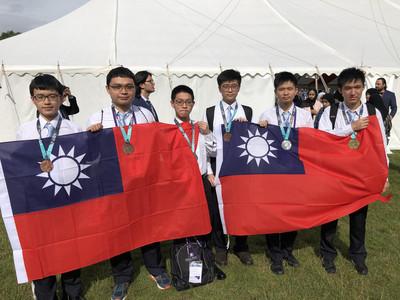 台灣6生參加國際數學奧林匹亞競賽奪1金2銀3銅