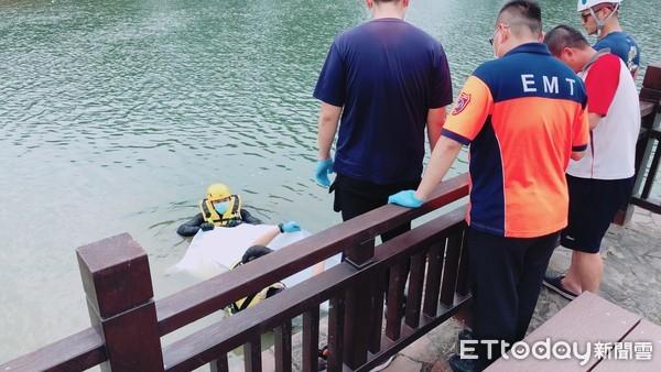 台南新營天鵝湖再傳溺水案  中年男死亡身分待查