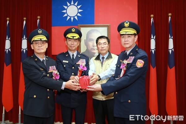 周幼偉接任台南市警局長 黃偉哲期勉行動警政續造幸福城市