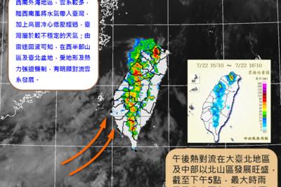 大暑到了! 午後大雷雨再炸北台