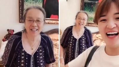 容嬤嬤83歲近況曝光!對孫女裝可愛笑開懷 網讚:鄰家好奶奶