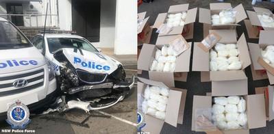 載273kg冰毒 他撞爛警車被逮捕