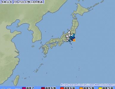 千葉縣近海5.3強震 9地區3級震度
