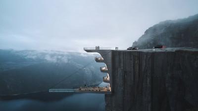 600m高懸崖飯店!透明泳池挑戰心臟