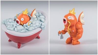 上下大反差!憨呆鯉魚王出浴「猛男胴體」現形 粉紅奶頭太羞人啦