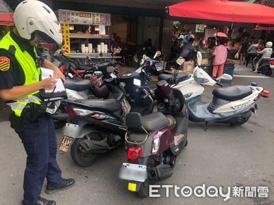 林口警交通執法 整頓市場違停亂象