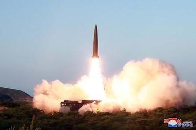 北韓昨2枚飛彈射程都超過600km