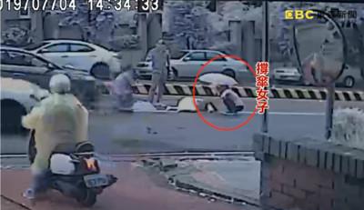 台中驚悚車禍畫面曝光 婦過馬路被撞死