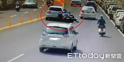 重機騎士突往內側切!擦撞汽車重傷身亡