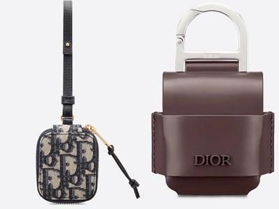 Dior以經典緹花+頂級小牛皮,打造要價1萬元的AirPods保護套
