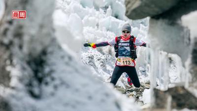 聖母峰馬拉松女跑者 在世界最高冰河奔跑
