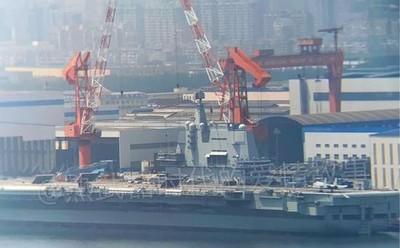 陸國產航母近照曝光 殲15D新試驗將展開