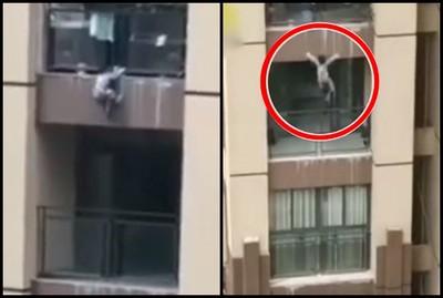 3歲童「爬6F陽台」失手墜落 住戶神招解救