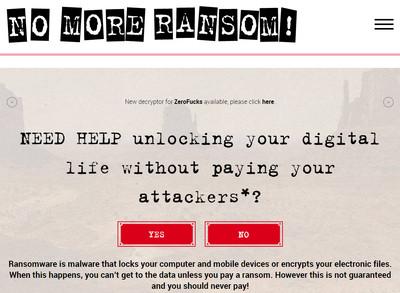 No More Ransom專案讓駭客少賺近34億