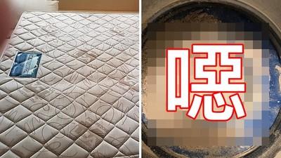陳年床墊吸出「垢粉小山堆」 家庭主婦驚呼到吐:我還每天躺在上面睡...
