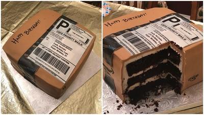 老婆太愛買網拍!老公訂做超逼真「生日包裹蛋糕」 主角切開笑到歪腰