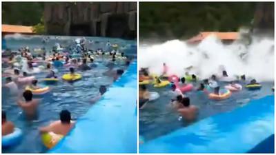 樂園衝浪變奪命海嘯 遊客斷腿44傷