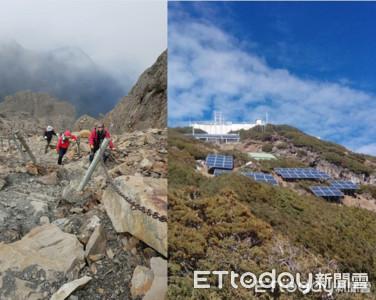 東北亞最高3858米玉山北峰基地台啟用
