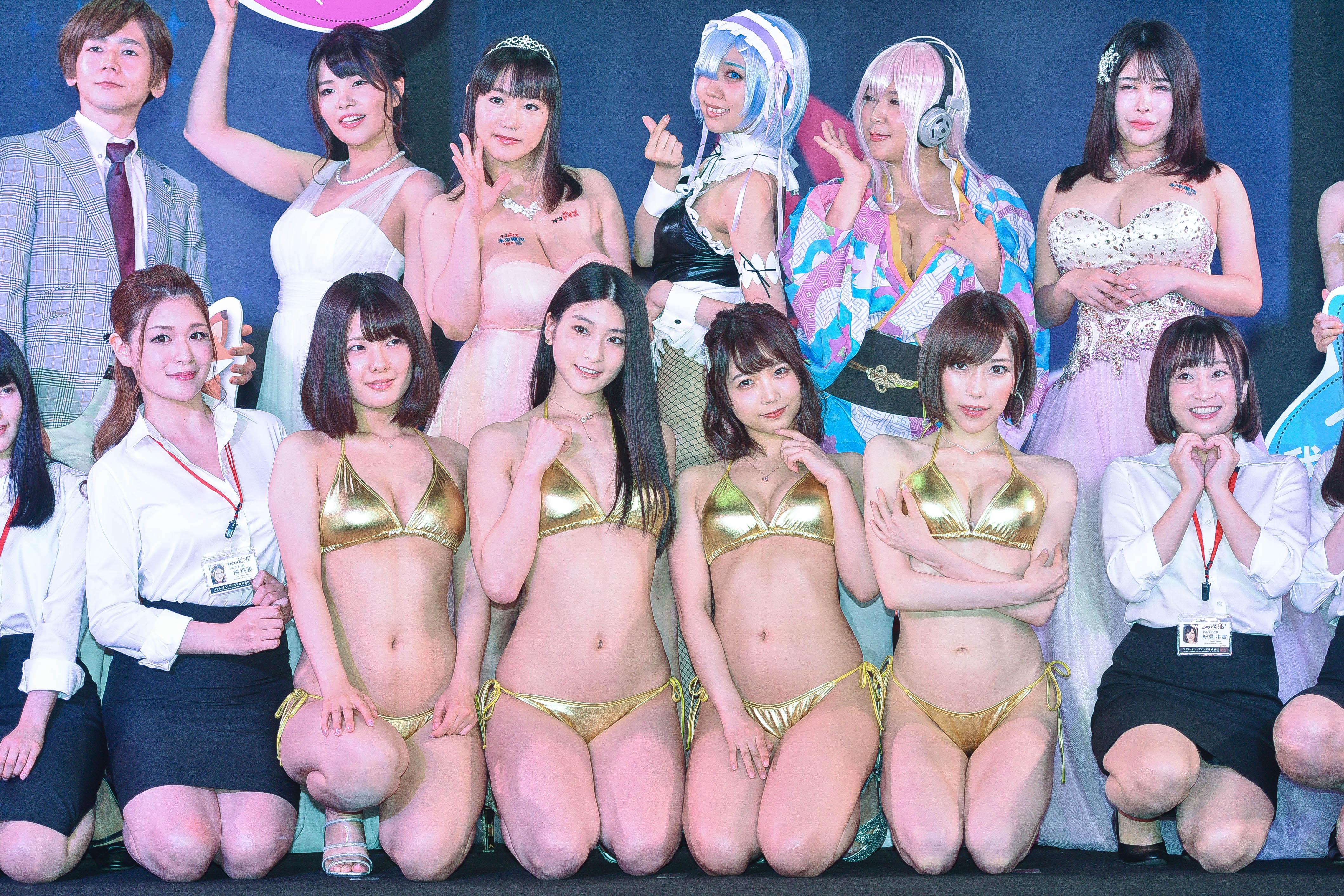 ▲▼TAE台灣成人展30位AV女優到場。(圖/記者張一中攝)