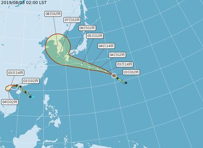 第9號颱風「利奇馬」 最快明生成