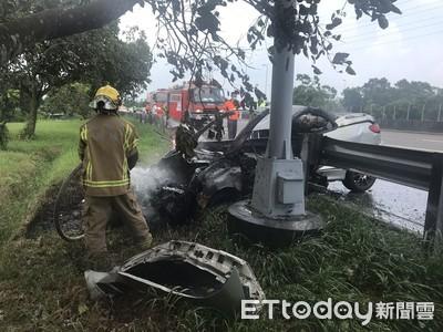 國3南下自小客車自撞護欄1女死亡