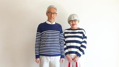 靠穿搭凍齡!簡單格、條紋搭出迷人情侶裝 銀髮夫妻IG擁80萬粉