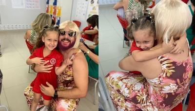 單親爸扮女裝陪女兒參加母親節活動