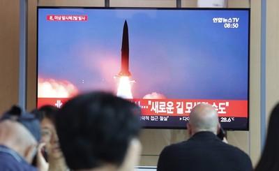 南韓軍方:北韓今晨試射短程彈道導彈