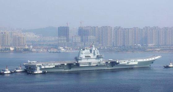 ▲▼解放軍002航母第7次海試。(圖/翻攝自微博)