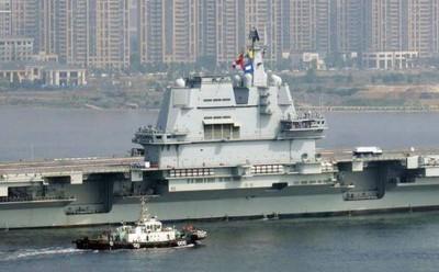 陸002航母第7次海試出現「技術問題」