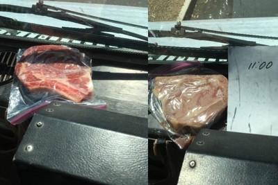 郵務車沒冷氣!郵差車上烤牛排當午餐