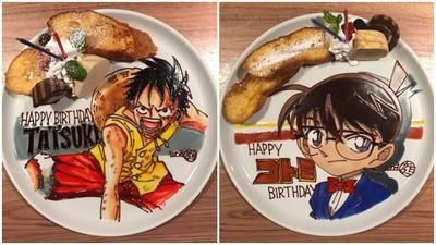 餐盤當畫布!甜點師用「巧克力筆」畫動漫角色 精緻度逼人舔盤子啦