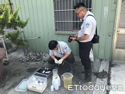台南新營土石方場非法貯留廢水