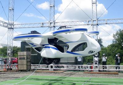 NEC「載客」無人機試飛成功!3公尺高處停留1分鐘