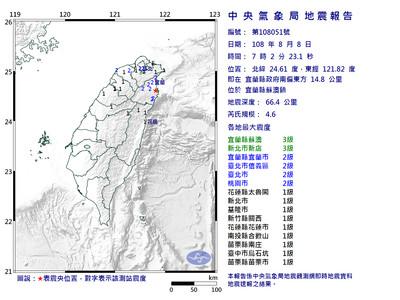 6.0強震前已32天沒有感地震史上第2