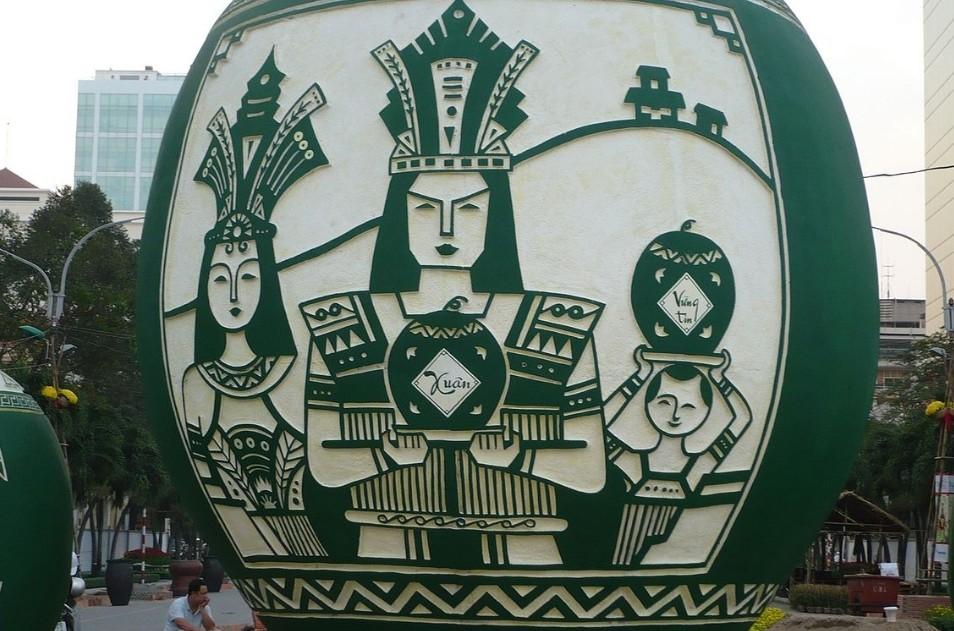 ▲▼雒龍王的浮雕。(圖/翻攝自維基百科)。