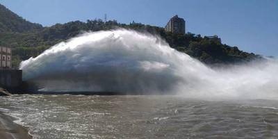 利奇馬帶來豐沛雨量 水庫調節性放水
