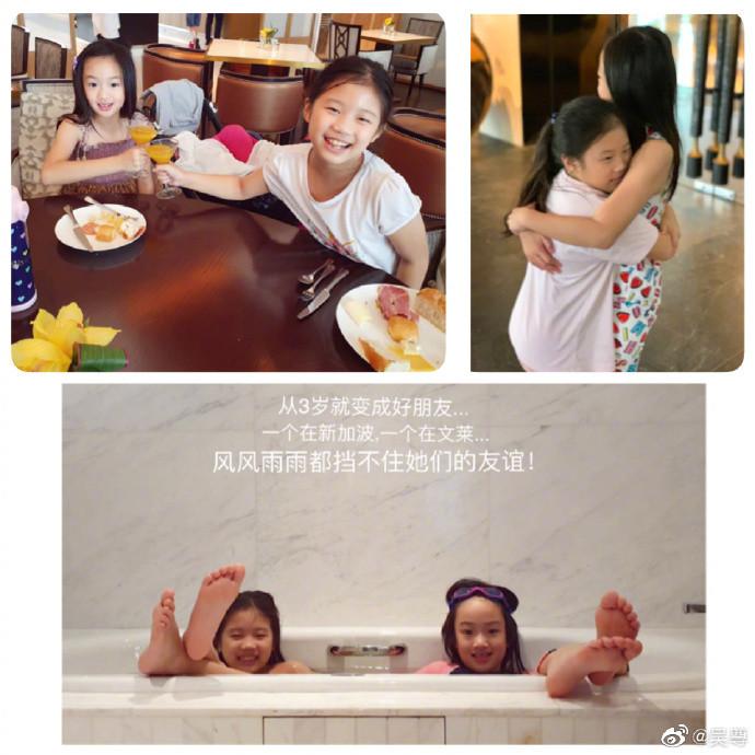 ▲吳尊近日帶女兒NeiNei和兒子Max到新加坡度假,一家子高顏值令網友大呼超羨慕。(圖/翻攝自微博/吳尊)