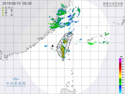 即/利奇馬海警解除 中南部連6天防止豪大雨