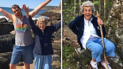活到89歲不曾出國!孫子拼考獸醫賺大錢,帶阿嬤環遊世界