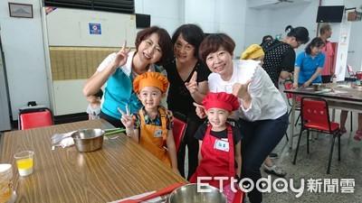 陳亭妃、陳怡珍與小小廚師共享烘焙趣
