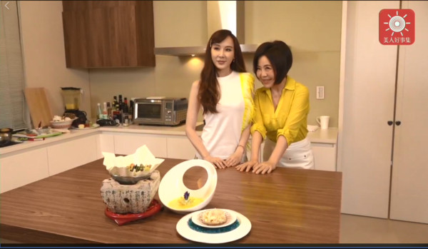 ▲▼蕭薔上于美人廚藝節目。(圖/翻攝自Facebook/于美人)