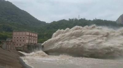 利奇馬颱風遠離 石門水庫回蓄水量