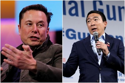 民主黨初選 馬斯克支持台裔楊安澤