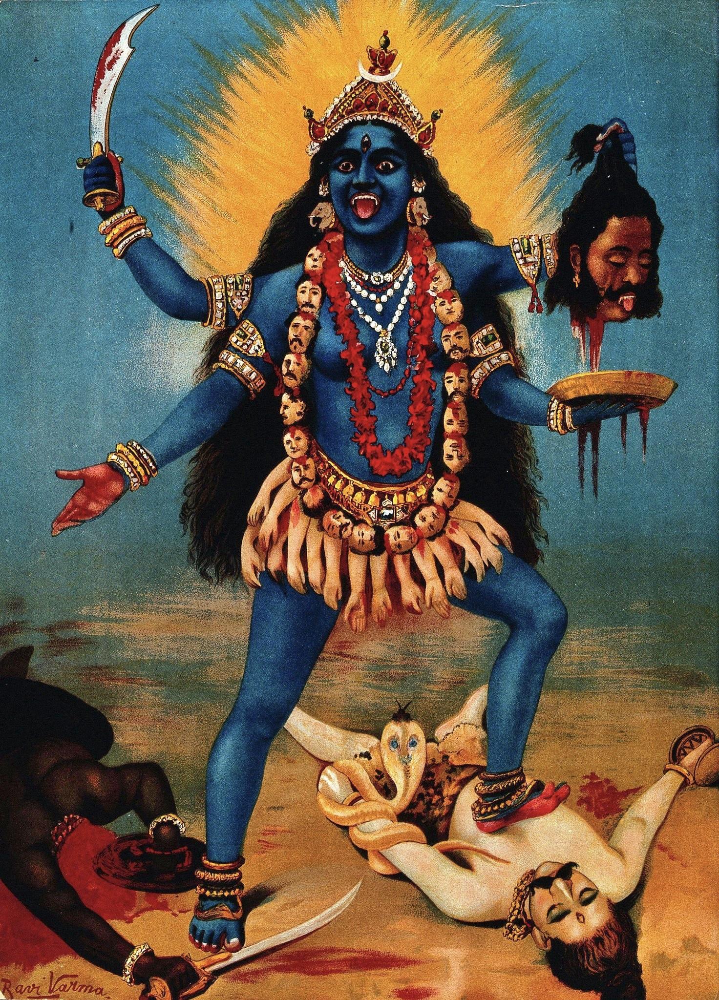 ▲迦利女神。(圖/翻攝自Wikipedia)