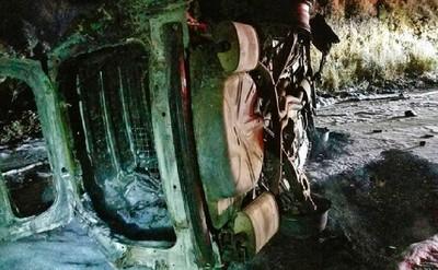 天外飛來一隻熊 值勤警車翻覆燒毀