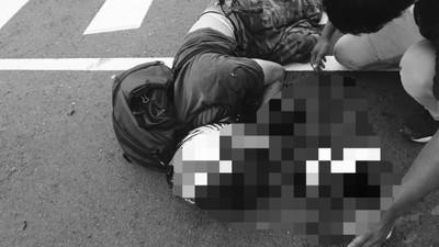 台中男騎士遭撞 肇事奧迪男:好衰