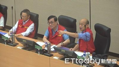 大雷雨夜襲「韓國瑜醒了」!8點召開防災會:目前退水速度非常快