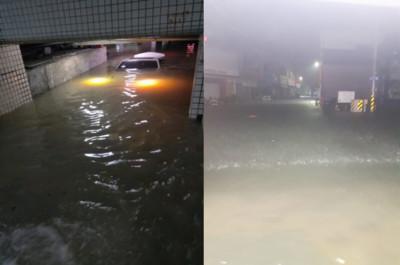 台南暴雨!泥水淹地下室險滅車頂
