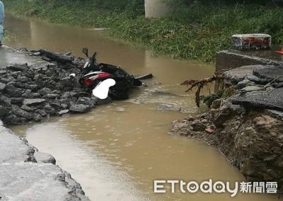 豪雨襲高雄 岡山驚傳民眾遭大水沖走